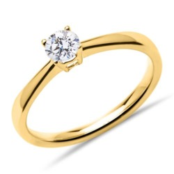 Solitärring 585er Gold mit lab-grown Diamant 0,25 ct.