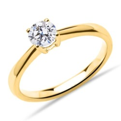 Solitärring aus 750er Gold mit lab-grown Diamant