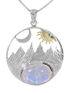 Anhänger Sonne 925 Silber bunt 1001 Diamonds bunt