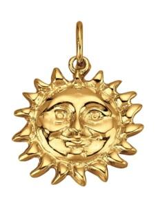 Sonnen-Anhänger Diemer Gold Gelbgoldfarben