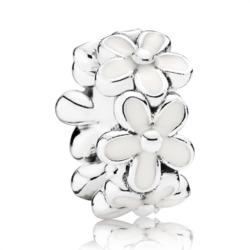 Spacer weiße Blüten 925er Silber