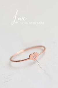 SPARKLING HEART Ring rosé vergoldet