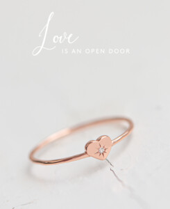 SPARKLING HEART|Ring Rosé