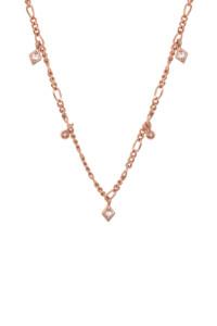 SPARKLING SHAPES Halskette rosé vergoldet