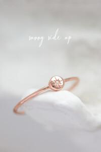 SPARKLING SPHERE Ring rosé vergoldet