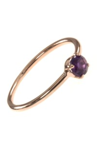 Stacking Ring rosé vergoldet Amethyst