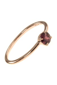 Stacking Ring rosé vergoldet Granat