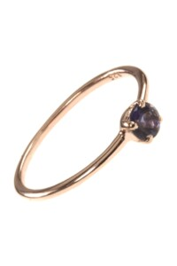 Stacking Ring rosé vergoldet Iolith