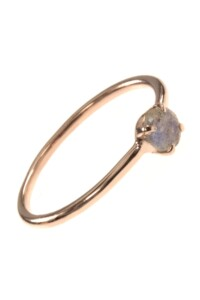 Stacking Ring rosé vergoldet Labradorit