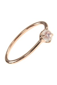Stacking Ring rosé vergoldet Mondstein