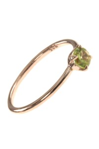 Stacking Ring rosé vergoldet Peridot