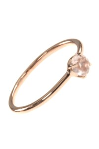 Stacking Ring rosé vergoldet Rosenquarz