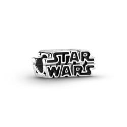 Star Wars Charm aus 925er Silber und Emaille, schwarz