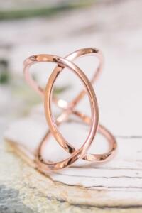STATEMENT Ring rosé vergoldet