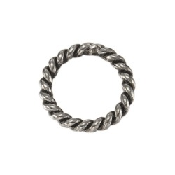 Steel Twisted Ring Small