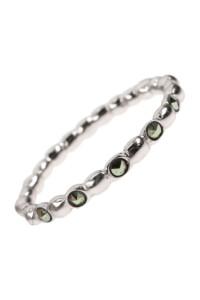 Sterling Silber Markasit Ring
