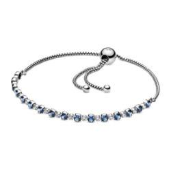 Sterlingsilber Armband mit Zirkonia Schmucksteine, blau