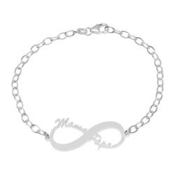 Sterlingsilber Namensarmband Infinity