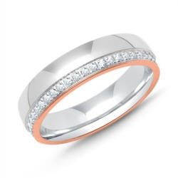 Sterlingsilber Ring Silber Roségold Zirkonia