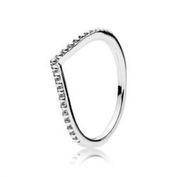 Sterlingsilber Ring V-Form