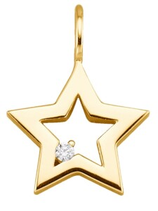 Stern-Anhänger Diemer Diamant Gelbgoldfarben
