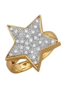 Stern-Ring Diemer Diamant Weiß