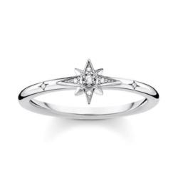 Stern Ring für Damen aus 925er Silber mit Zirkonia