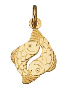 Sternzeichen-Anhänger 'Fische' Diemer Gold Gelbgoldfarben