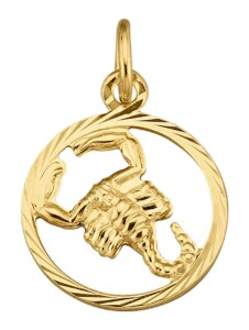 Sternzeichen-Anhänger Skorpion in Gelbgold 585 KLiNGEL Gelbgoldfarben