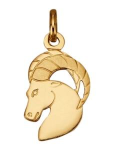 Sternzeichen-Anhänger 'Steinbock' Diemer Gold Gelbgoldfarben