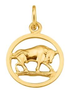 Sternzeichen-Anhänger Stier in Gelbgold 585 KLiNGEL Gelbgoldfarben