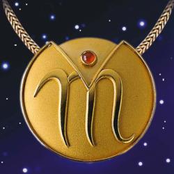 Sternzeichen-Collier 'Skorpion' (24.10.-22.11.) mit Glücksstein Karneol, Schmuck