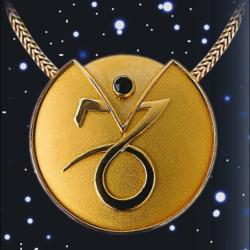 Sternzeichen-Collier 'Steinbock' (22.12.-20.01.) mit Glücksstein Onyx, Schmuck