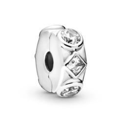 Stopper Clip aus 925er Silber mit Zirkonia