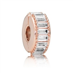 Stopper Clip Ice Formation ROSE mit Zirkonia