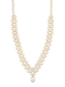 Süßwasser-Zuchtperlen-Collier Diemer Perle Weiß