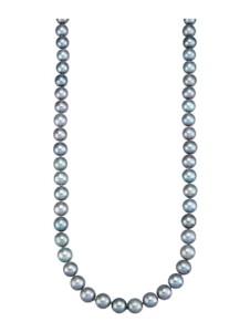 Süßwasser-Zuchtperlen-Kette Diemer Perle Grau