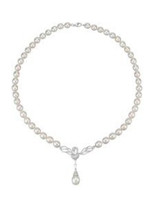 Süßwasserzuchtperlen-Collier Diemer Perle Weiß