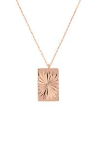 SUN RAYS Halskette rosé vergoldet
