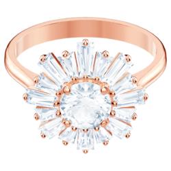Sunshine Ring, weiss, Rosé vergoldet