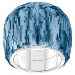 Swarovski Nirvana Ring, blau, Edelstahl