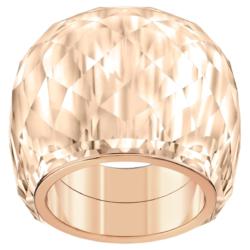 Swarovski Nirvana Ring, goldfarben, Rosé vergoldetes PVD-Finish