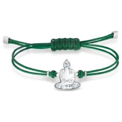 Swarovski Power Collection Buddha Armband, grün, Edelstahl