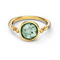 Tahlia Ring, grün, vergoldet