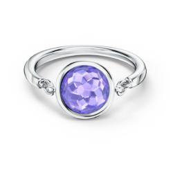 Tahlia Ring, violett, rhodiniert