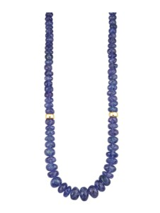 Tansanit-Collier Diemer Farbstein Blau