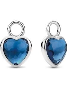 Ti Sento – Milano Damen-Creolen 925er Silber Farbstein Ti Sento Milano blau