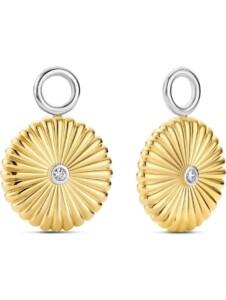 Ti Sento – Milano Damen-Creolen 925er Silber Zirkonia Ti Sento Milano gold
