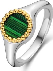 Ti Sento – Milano Damen-Damenring 925er Silber Farbstein Ti Sento Milano bicolor/grün