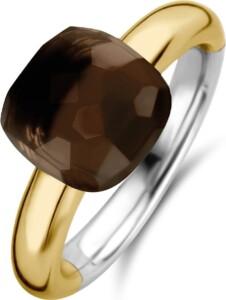 Ti Sento – Milano Damen-Damenring 925er Silber Kristall Ti Sento Milano gold/braun